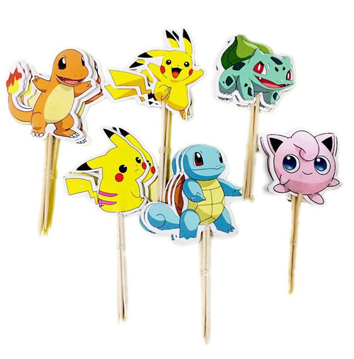 Cupcake Topper 24pc - Pokemon