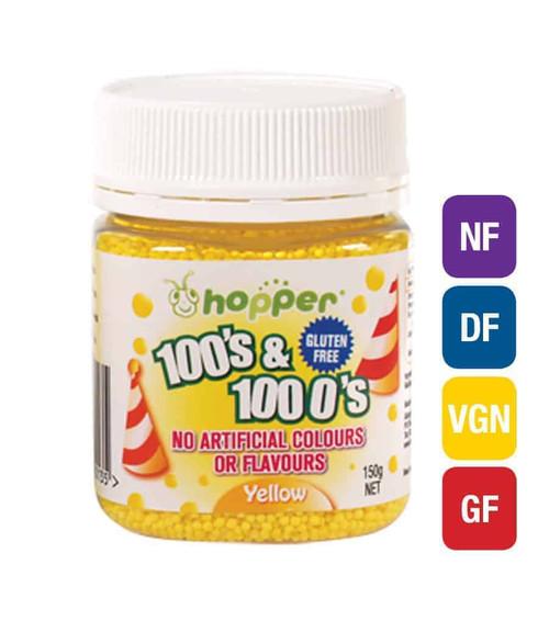 Natural 100's & 1000's Hopper 150g - YELLOW