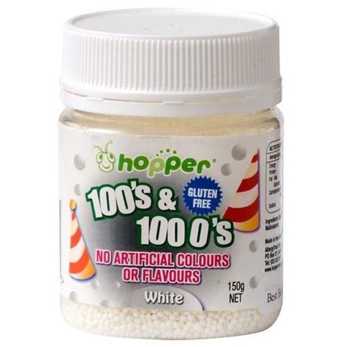 Natural 100's & 1000's Hopper 150g - White