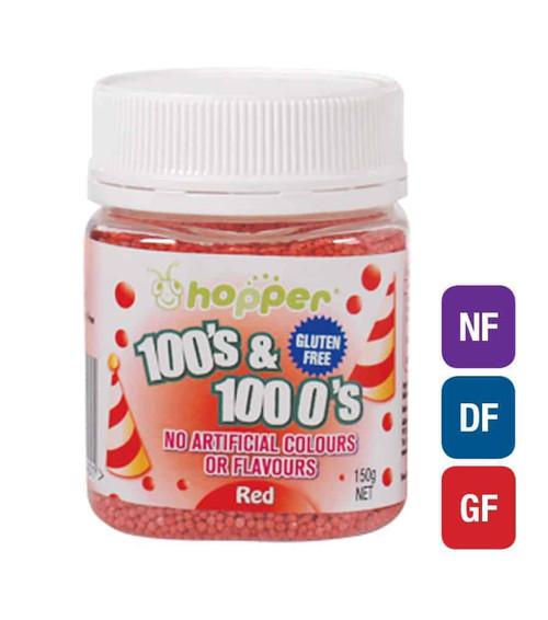 Natural 100's & 1000's Hopper 150g - RED
