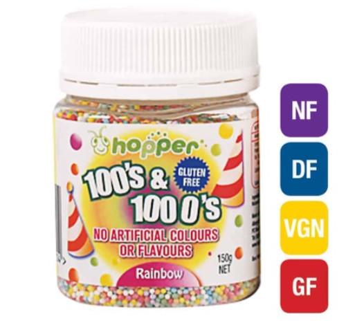 Natural 100's & 1000's Hopper 150g - RAINBOW