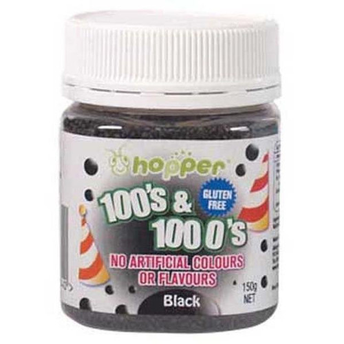Natural 100's & 1000's Hopper 150g - Black