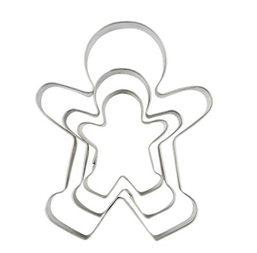 Gingerbread Man Cutters Set 3 pc