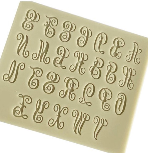 Fancy Script Font Silicon Mold