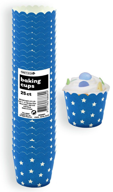 Meteor Baking Cups Royal Blue