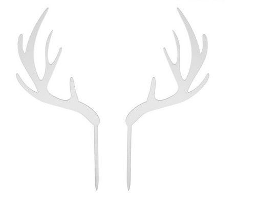 Acrylic Cake Topper - Antlers