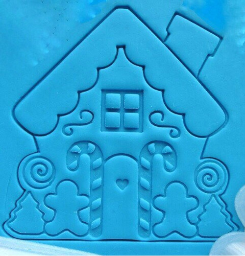 Plastic Cookie Cutter and Embosser- Gingerbread House 3pc Set