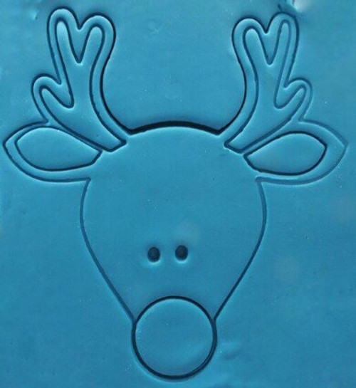 Plastic Cookie Cutter- Reindeer head 8pc Set