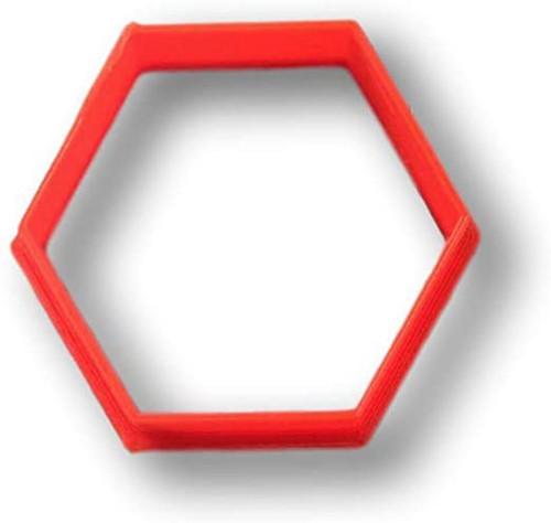 Plastic Cookie Cutter- Hexagon