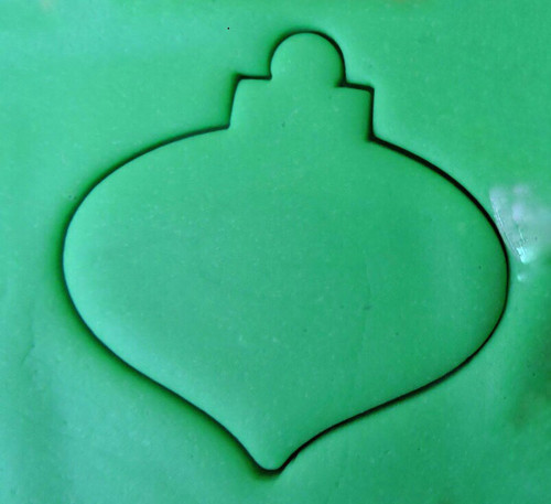 Plastic Cookie Cutter- Christmas Bauble