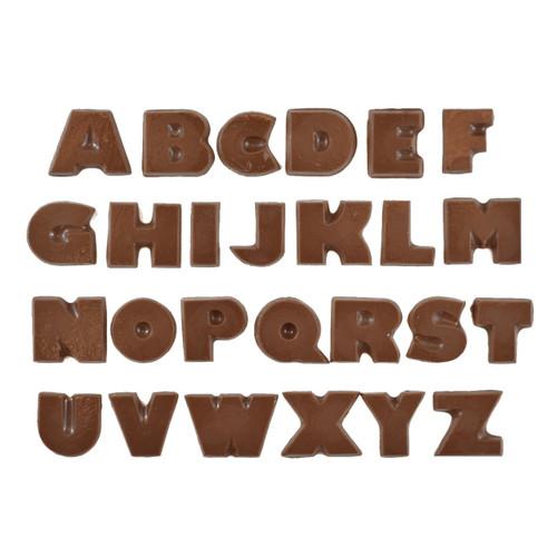 Plastic Chocolate Mold-Alphabet