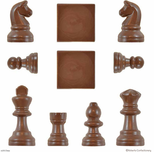 Plastic Chocolate Mold-Chess Set