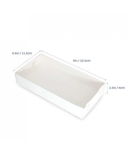 "CLEAR LID BISCUIT BOX RECTANGLE 9""x4.5""x1.5"""