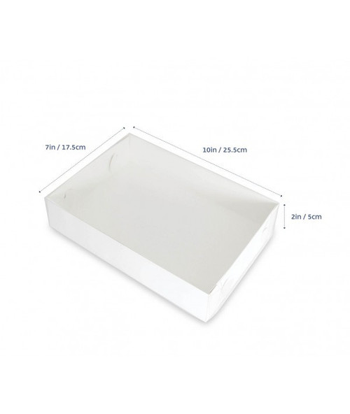 "CLEAR LID BISCUIT BOX RECTANGLE 10""x7""x2"""