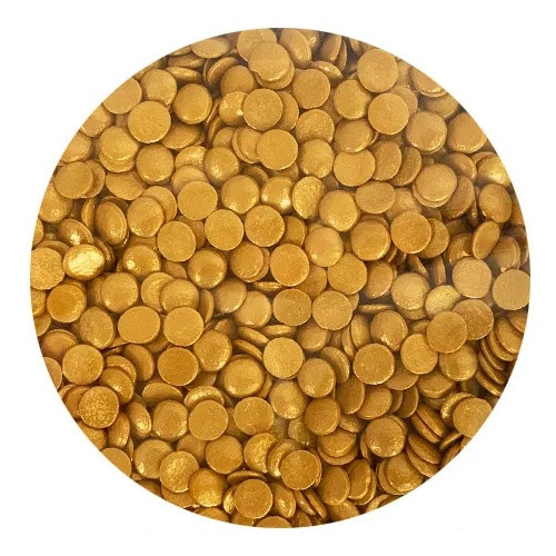 Bulk Sprinkles 1KG - GOLD SEQUINS