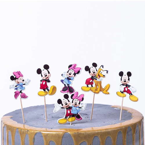 Cupcake Toppers 24pc - Mickey/ Minnie Mouse