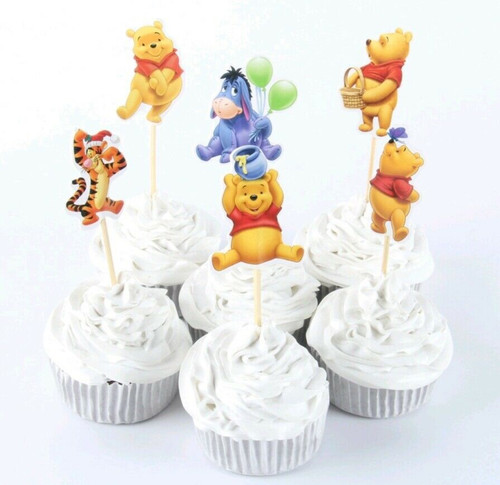 Cupcake Toppers 24pc - Pooh Party