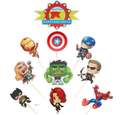 Cake Toppers 10pc - Avengers