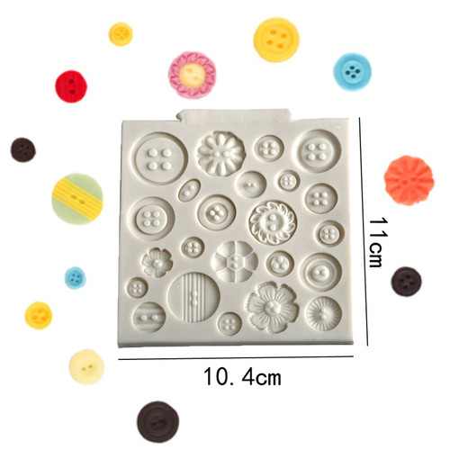 Silicone Mold - Pretty Buttons