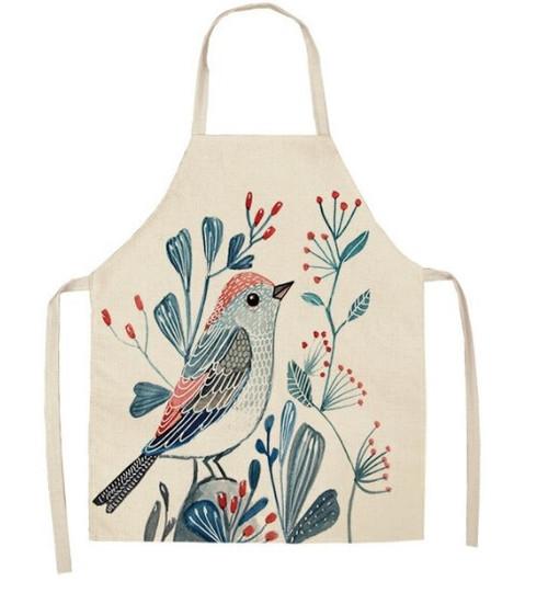 Bird Branch Pattern Apron