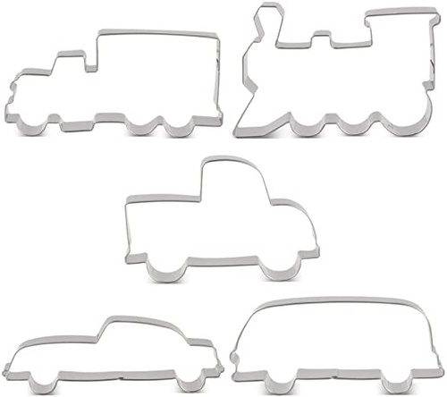 Transportation Cookie Cutter 5pc Set