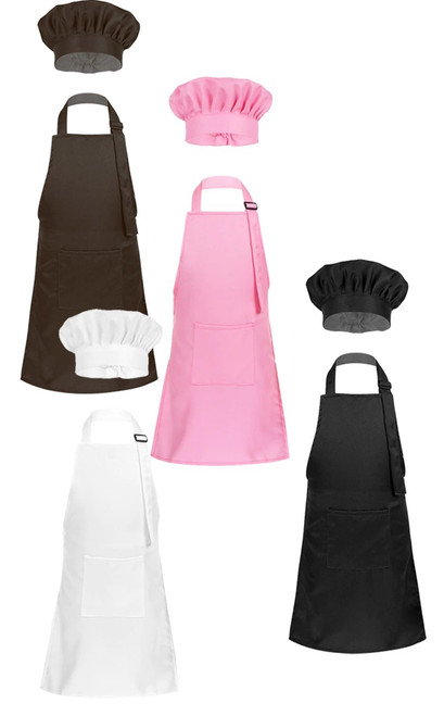 Kids Adjustable Apron with Hat