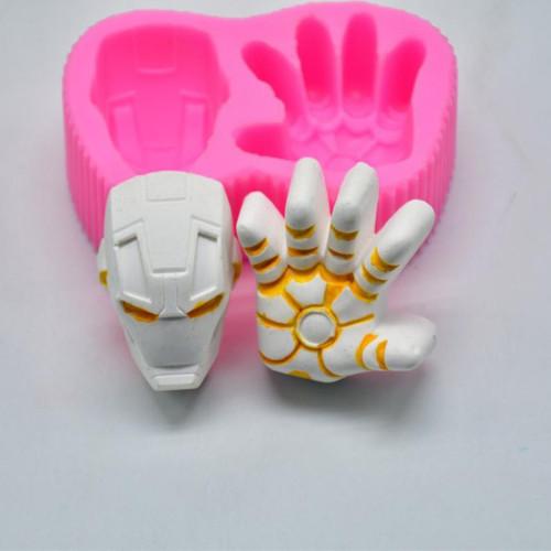 Iron man Face&Hand Silicone Mold