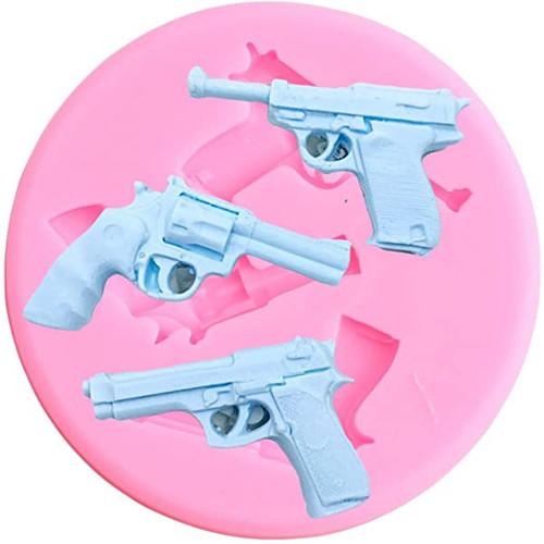 Silicone Mold-Hand Gun 3pc
