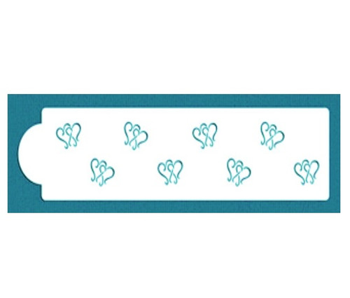 Cake Stencil - Dancing Hearts