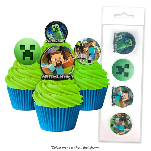 Edible Wafer Toppers -MINECRAFT