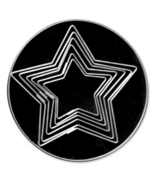 Loyal Tin Plate Cutter Set-PLAIN 5 POINT STAR