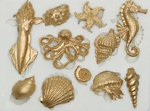 Silicone Mold 11 Cavity-Corsair Sea Creatures