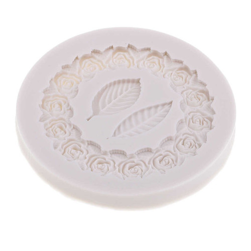 Silicone Mold-Rose Wreath Leaf