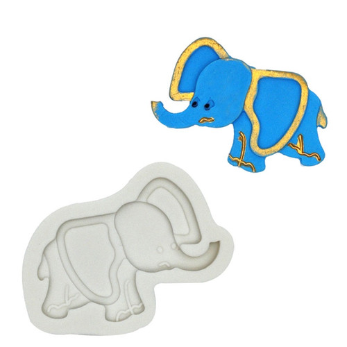 Silicone Mold- Cute Elephant