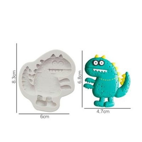 Silicone Mold- Scary Dino