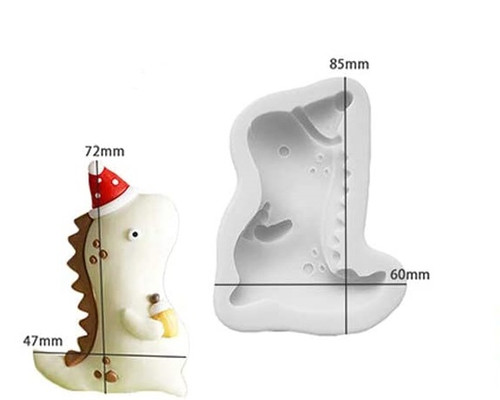 Silicone Mold- Baby Dino with Hat