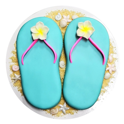 DIY Kid's Cake Project - Summer Thongs!