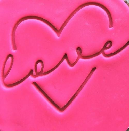 Cookie Embosser - 'Love Through Heart'