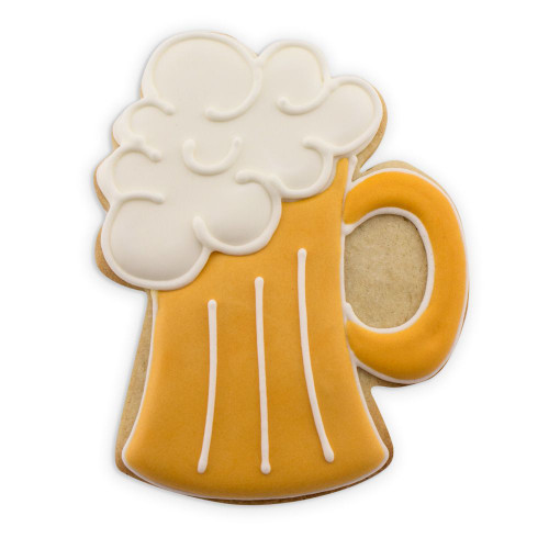 Large Beer Mug Tin Plate Cookie Cutter