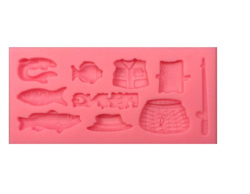 Gone Fishing Silicone Mold
