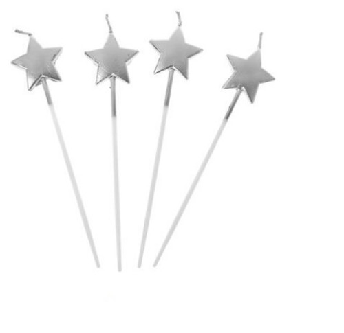 Party Candles - Silver Star Picks