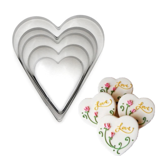 Heart 7pc Tin Plate Cutter