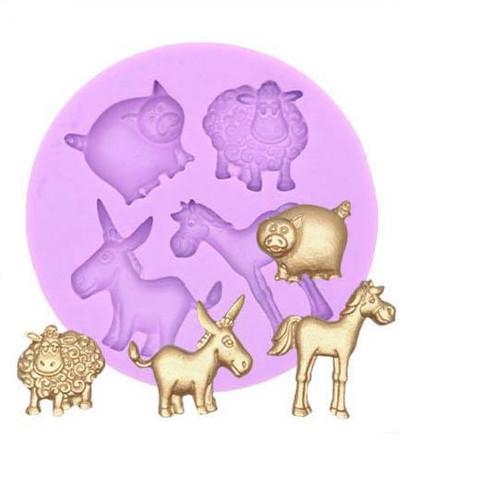 Hobby Farm Animals Silicone Mold