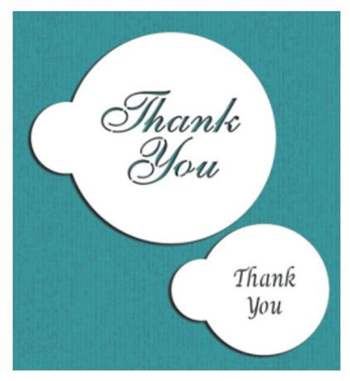 Cake Stencil - 'Thank You' 2pc
