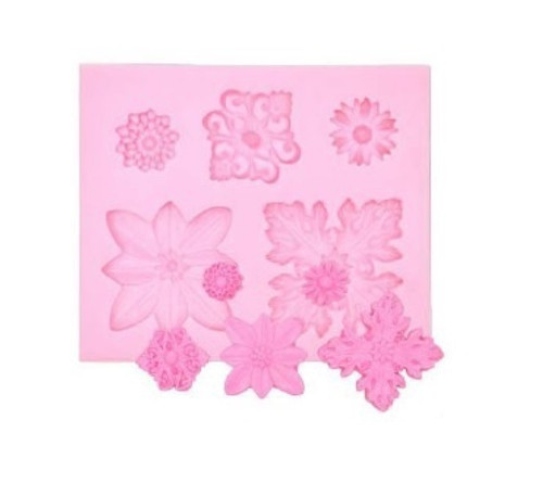 Floral Brooch 5 Cavity Silicone Mold