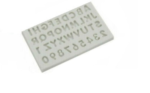 Small Alphabet & Numbers Silicone Mold
