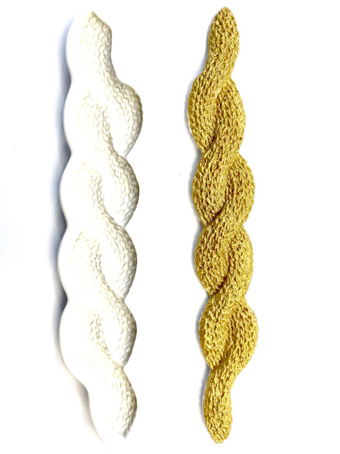 Braided Knit Border Silicone Mold