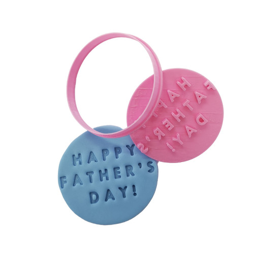 Cookie Cutter and Embosser -Happy Fathers Day