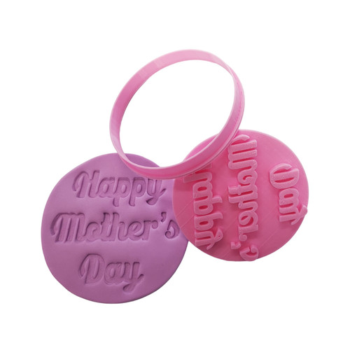 Cookie Cutter and Embosser - Happy Mother's Day(Style1)