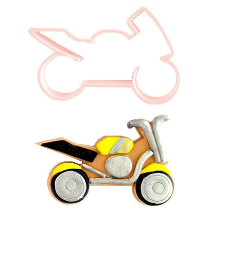 Motor Cycle Plastic Cookie Cutter